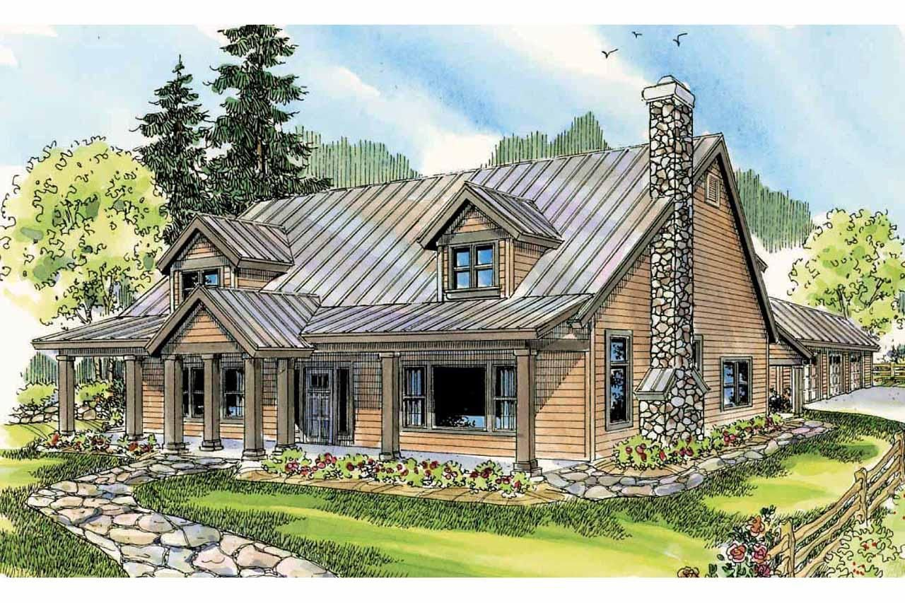 lodge house | Lodge Style House Plan - Elkton 30-704 - Front ...