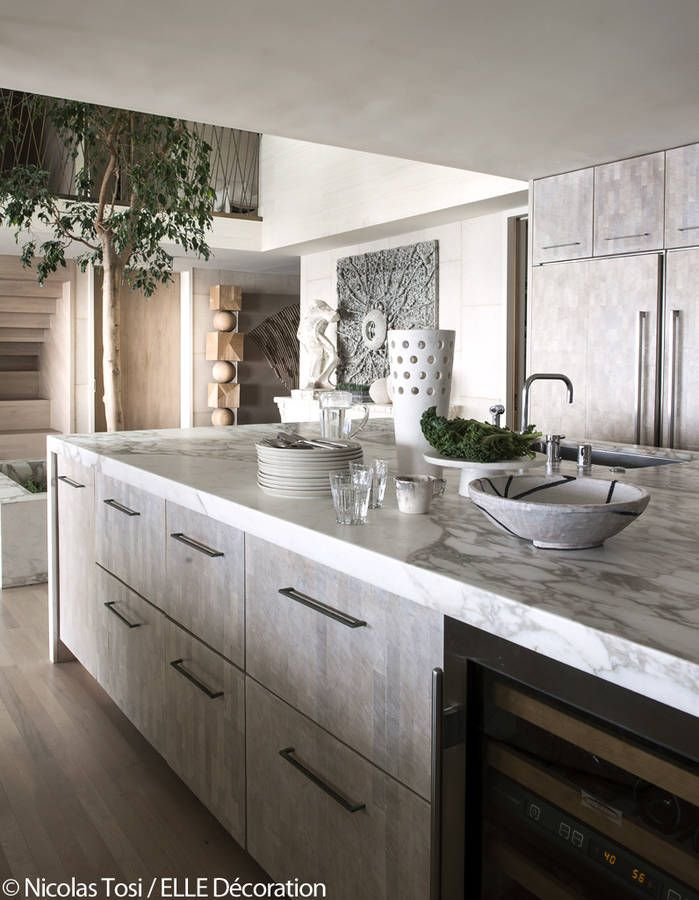 Kitchen in waterfront California home By Kelly Wearstler kelly