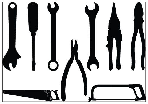 Tools Silhouette Clip Art Pack Silhouette Clip Art Silhouette Vector Silhouette Stencil
