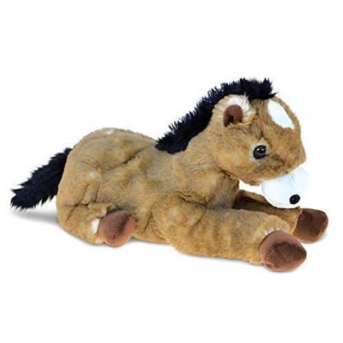 10 5 Inches Brown Color Horse Animal Stuffed Toy Domestic Animal Kids Boys Black Mane Tail Chocolate Hooves Huggable Fluffy Plush Toy Cute Cuddly