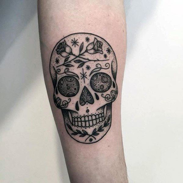 f440c54ad 2017 trend Tattoo Trends - 100 Sugar Skull Tattoo Designs For Men - Cool  Calavera Ink Ideas