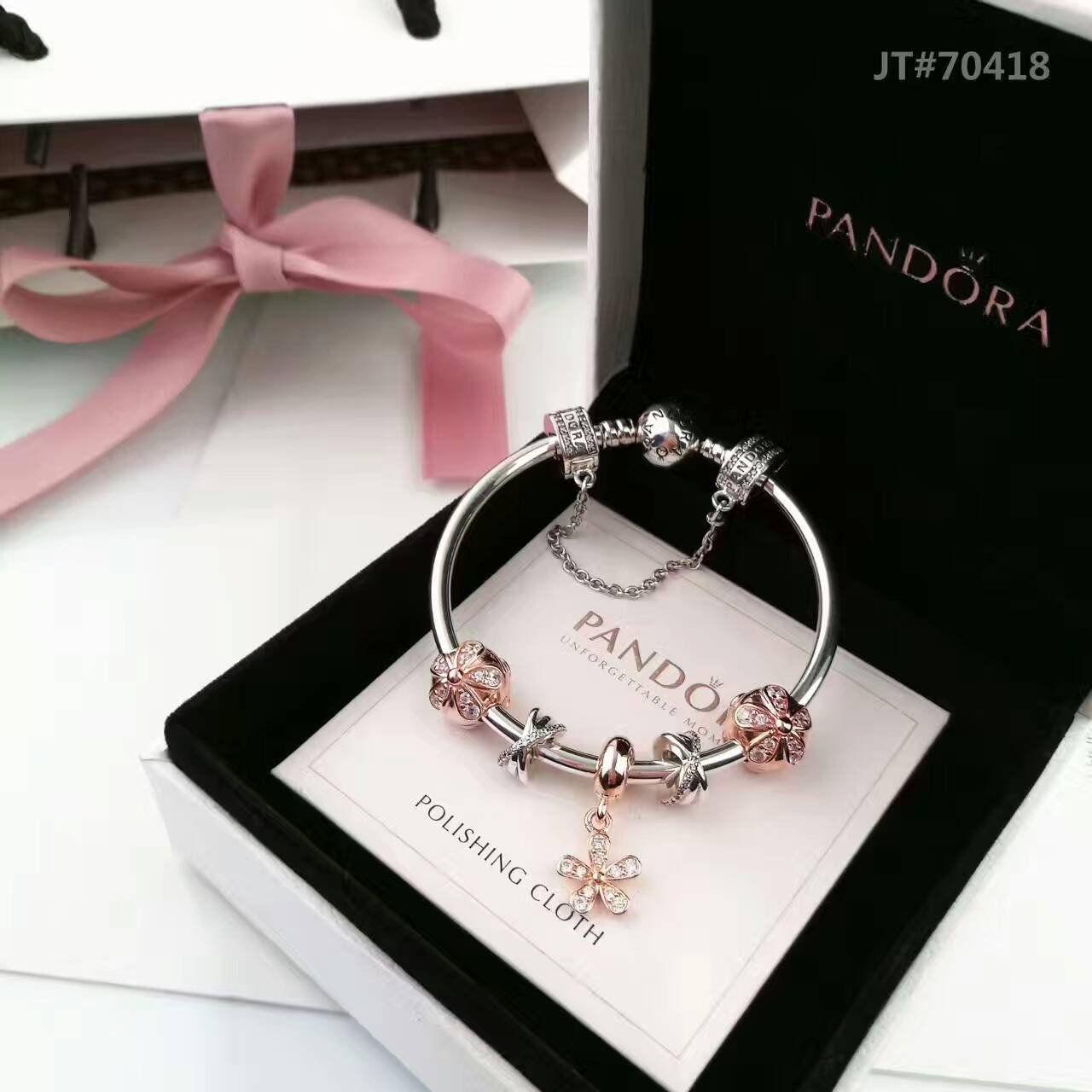 Pandora bracelet with rose gold theme charms beauty u makeup