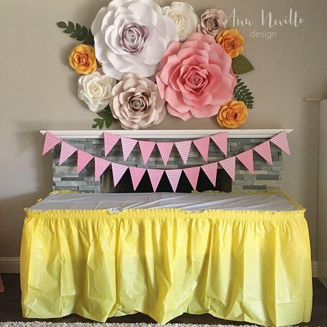 Birthday Backdrop For A Special Girl Paperflowerwall Paperflower Paperflowers Paperroses Birthdaydecor 2ndbirthday 2ndbirthdayparty