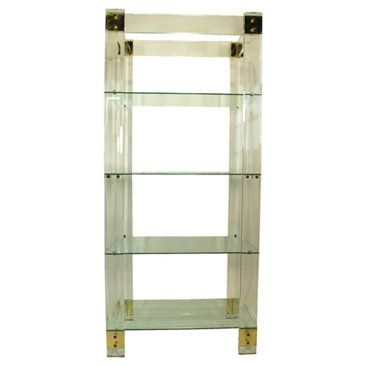 Check out this item at One Kings Lane! Lucite & Brass Étagère
