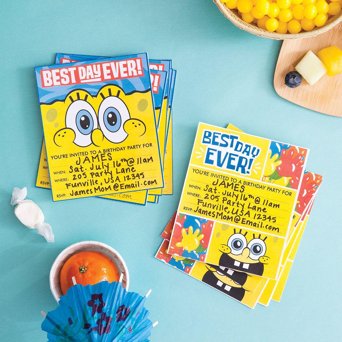Plan a SpongeBob SquarePants Party | Spongebob birthday ...