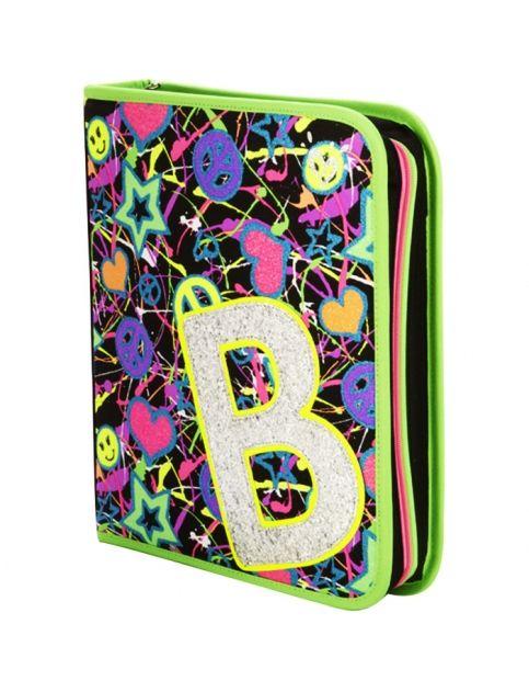 Shop Glitzy Zebra Binder and other trendy girls binders backpacks ...