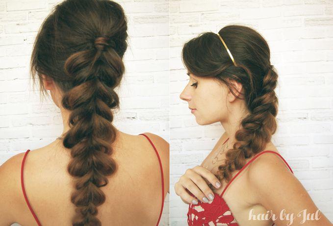 pull through braid- oszukany warkocz, idealny na imprezę! tutorial na blogu:) hairbyjul.pl #pull-through #braid #warkocze #braids #hairstyles #braidtutorial #tutorial