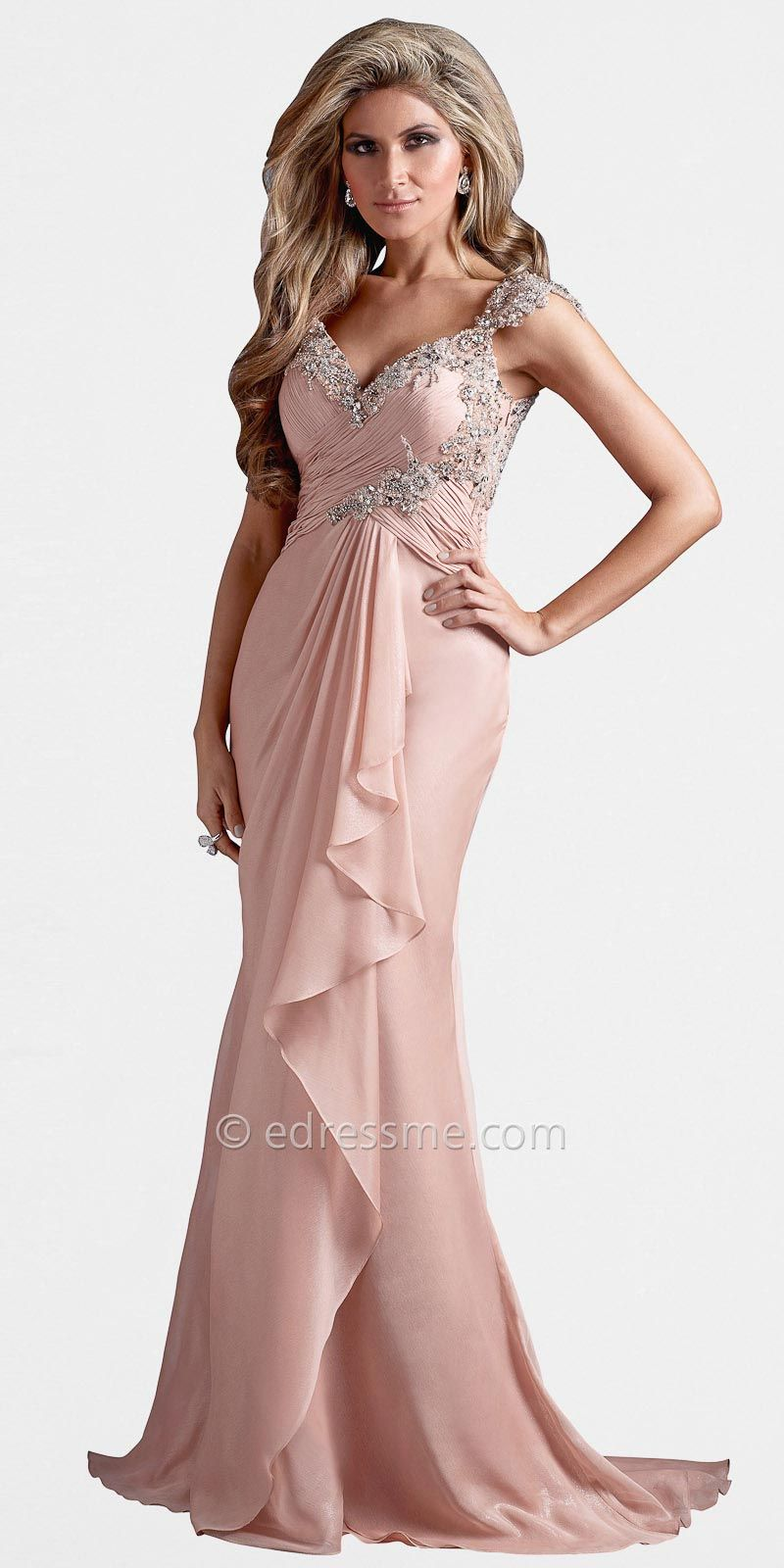 Criss-Cross Ruched Bodice Evening Gowns by Terani Couture | fashion ...