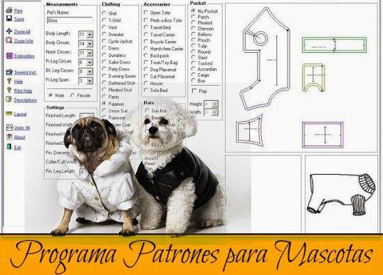 Programa. Patrones de Ropa para Mascotas - enrHedando   moje mile ...
