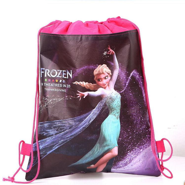 NEW Frozen Bag Princess Environmental Drawstring Swimming PE Kids Toy