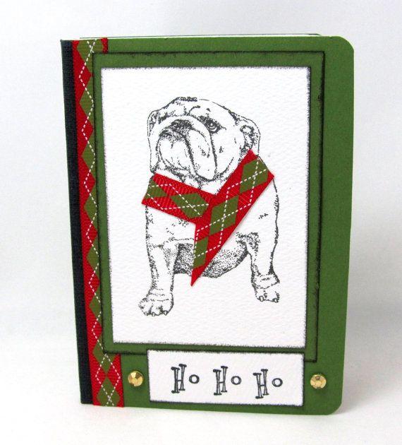 Bulldog Christmas Journal  Bulldog Mini by PrettyByrdDesigns