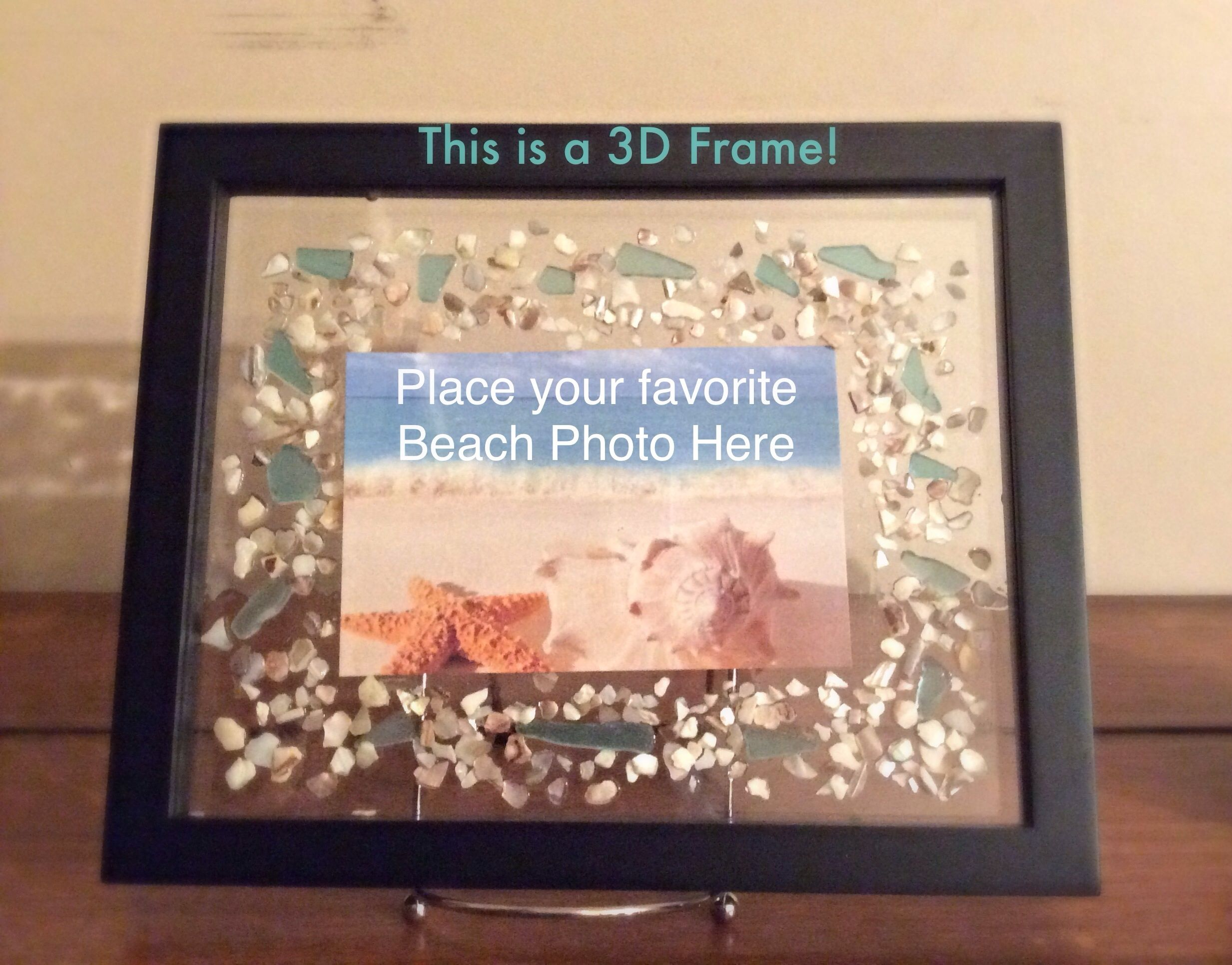 New on my Etsy! $25.00 Put your own picture in this 3D Shadow Box ...