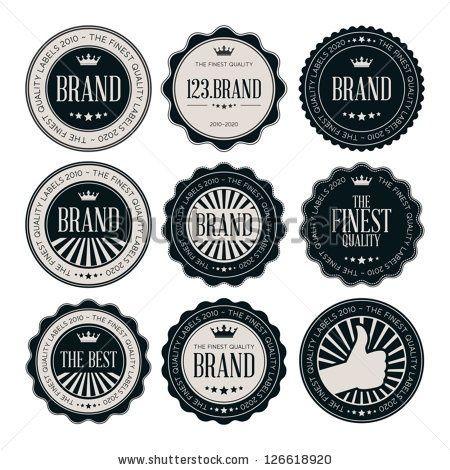 Vintage Logos Labels Retro Logo Psd Photoshop Printing Set Of Badges Black