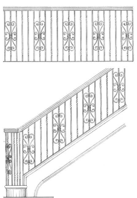 Stair Railing Design Drawings: Inspirations For You ...