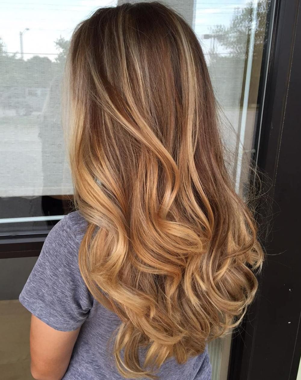 Balayage Hairstyle Honey Blonde Balayage Hair  Cabelos  Pinterest  Blonde Balayage