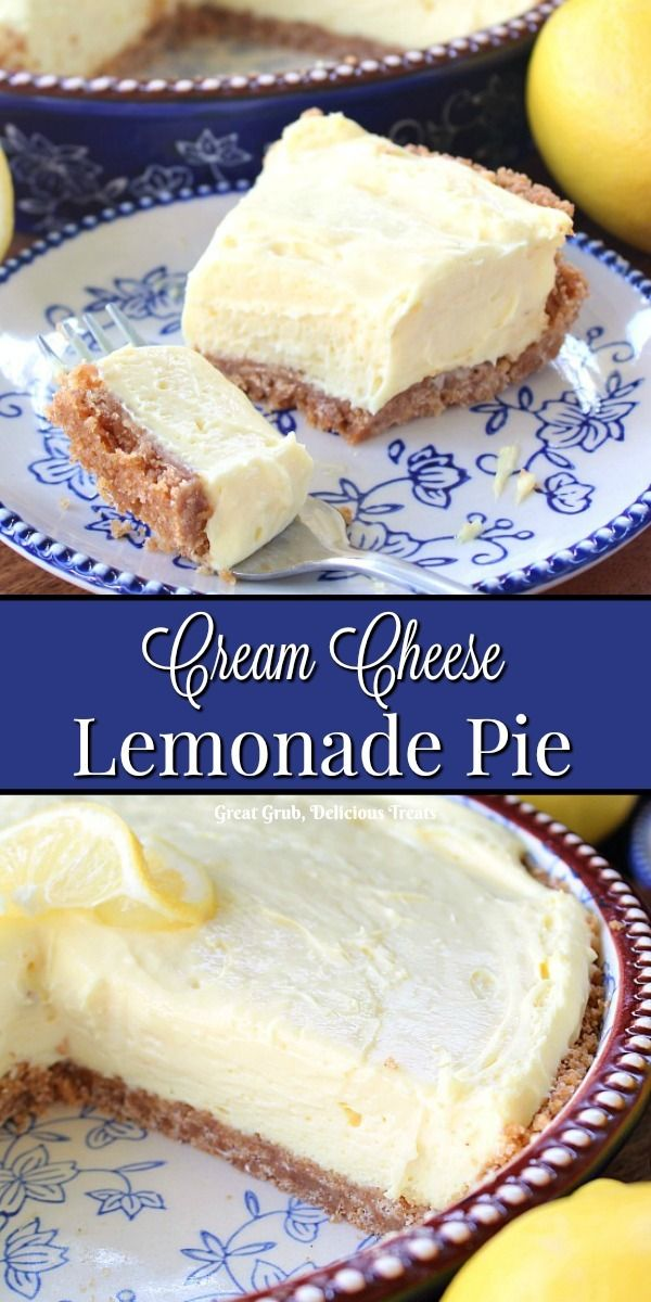 Cream Cheese Lemonade Pie #creamcheeserecipes