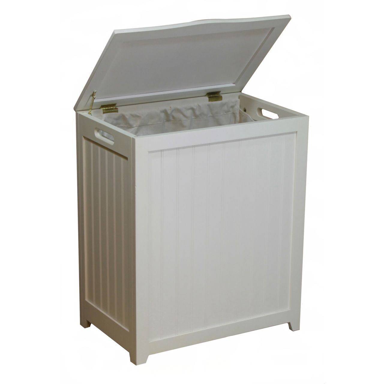 Oceanstar White Finished Rectangular Laundry Wood Hamper Wood Hamper Wood Laundry Hamper Laundry Hamper