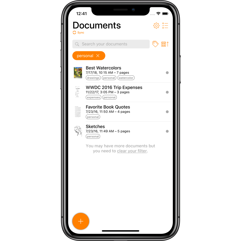 Organize your PDF documents in Genius Scan Scanner app