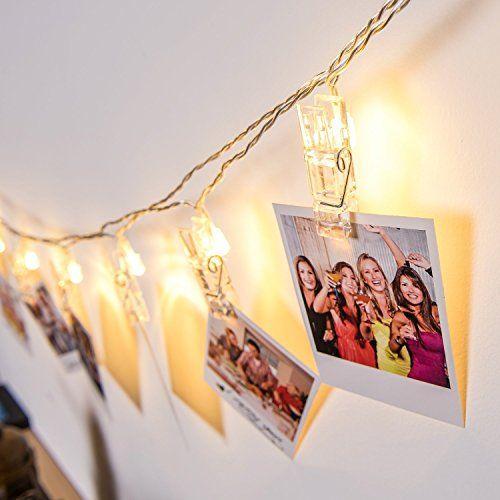 Gledto Guirlande Lumineuse LED Guirlande avec 20 Pince