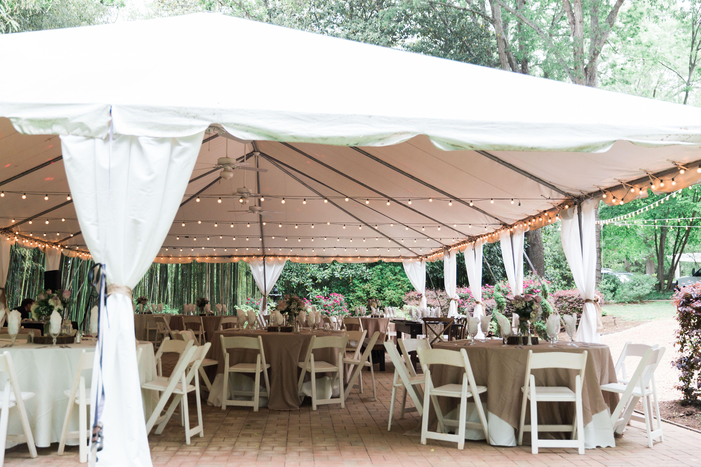 Duncan Estate Wedding Tent Pole Fabric Burlap Overlays Devon