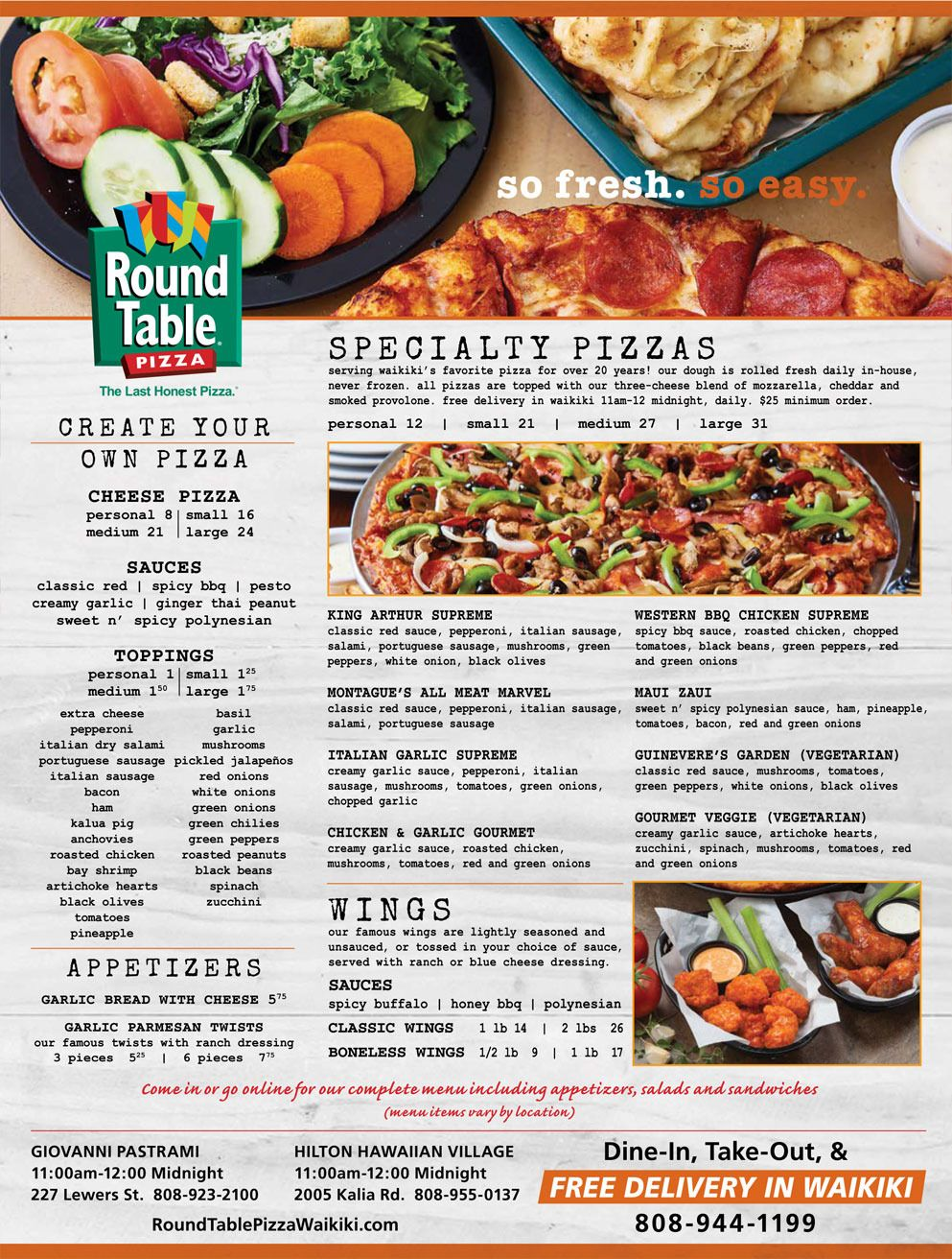 100+ Menu for Round Table Pizza - Best Home Furniture Check more at ...
