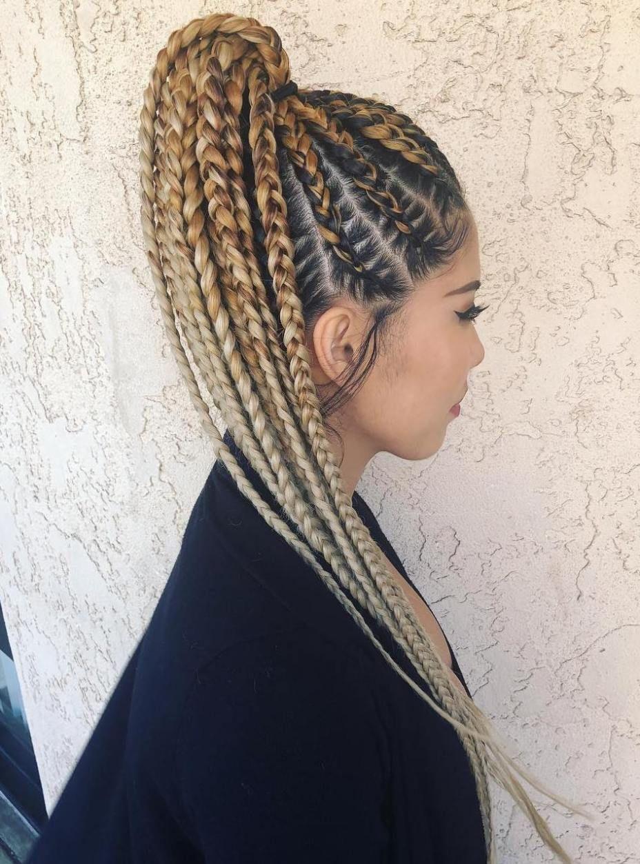 Cornrow Hairstyles Ponytail Easy Cornrows Ponytail Natural Hair