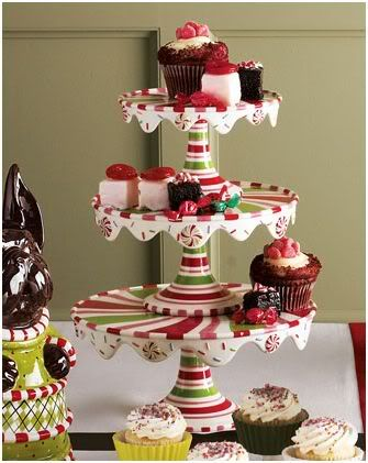 Candy Cane Striped Cake Plates Christmas Dishes Cake Stand With Dome Cake Plates