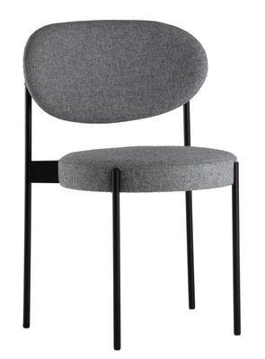 Chaise rembourrée Series 430 / Empilable - Tissu Gris clair - Verpan ...