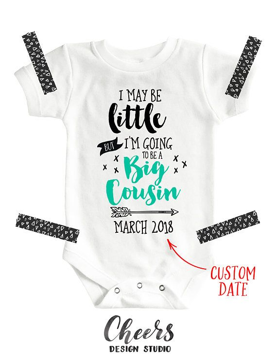 Im Going to Be A Big Cousin Baby Birth Reveal Rompers Short Sleeves Bodysuit