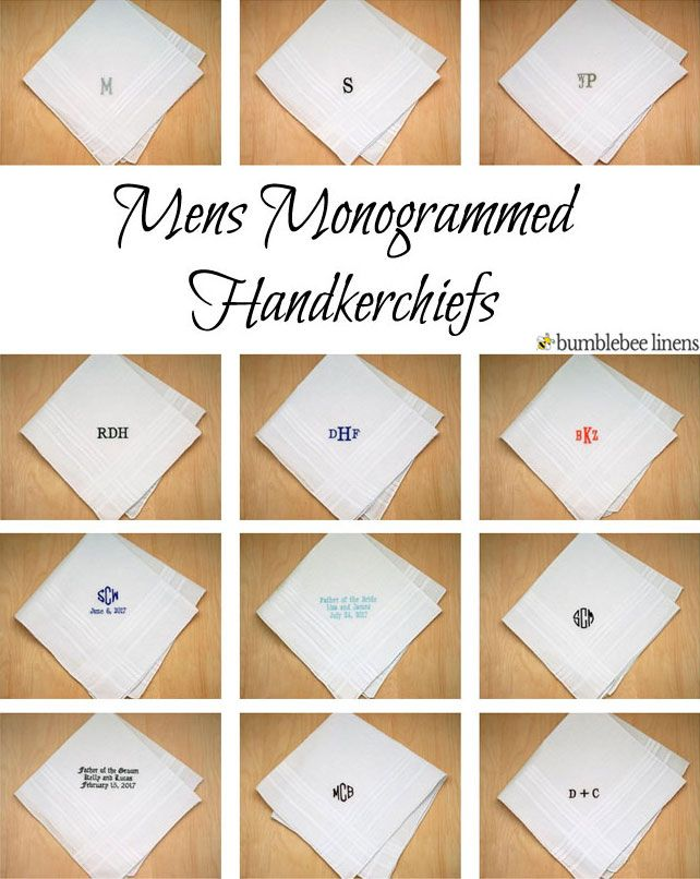 d9e144c44172 Mens Personalized And Monogrammed Handkerchiefs | Embroider your initials  or a saying of your choice.