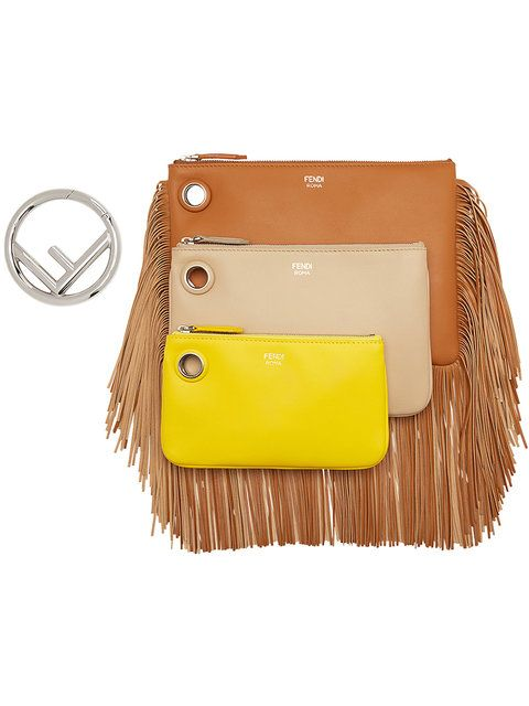 Free Shipping Shop Many Kinds Of Fendi Triplette fringed bag Buy Online Outlet Free Shipping Explore P5GF8KfGu