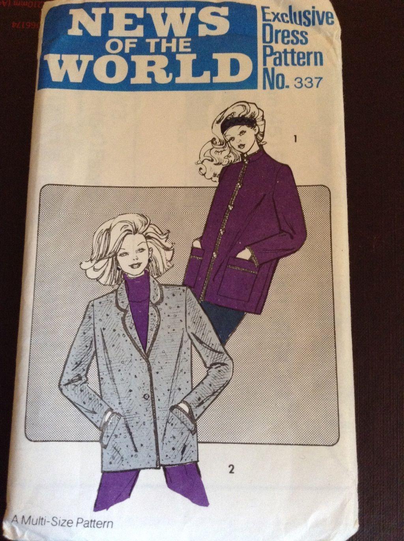 News of the world 337 vintage sewing pattern 1980s size 10 16 news of the world 337 vintage sewing pattern 1980s size 10 16 ebay jeuxipadfo Choice Image