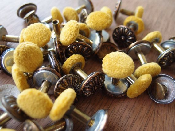 Vintage Upholstery Buttons Threaded Screws Tufting Backs Crafting