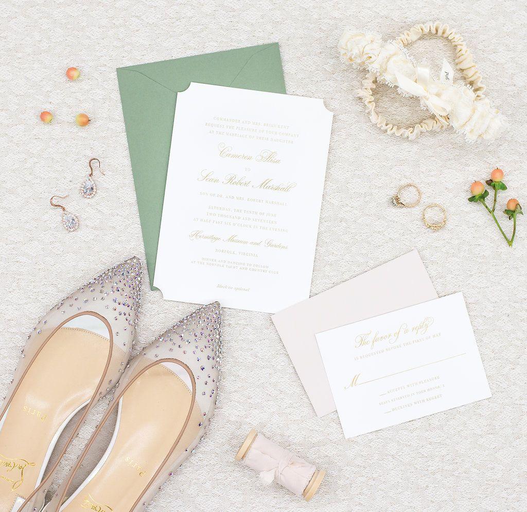 Third Clover Paper s semi custom Cameron wedding invitation design