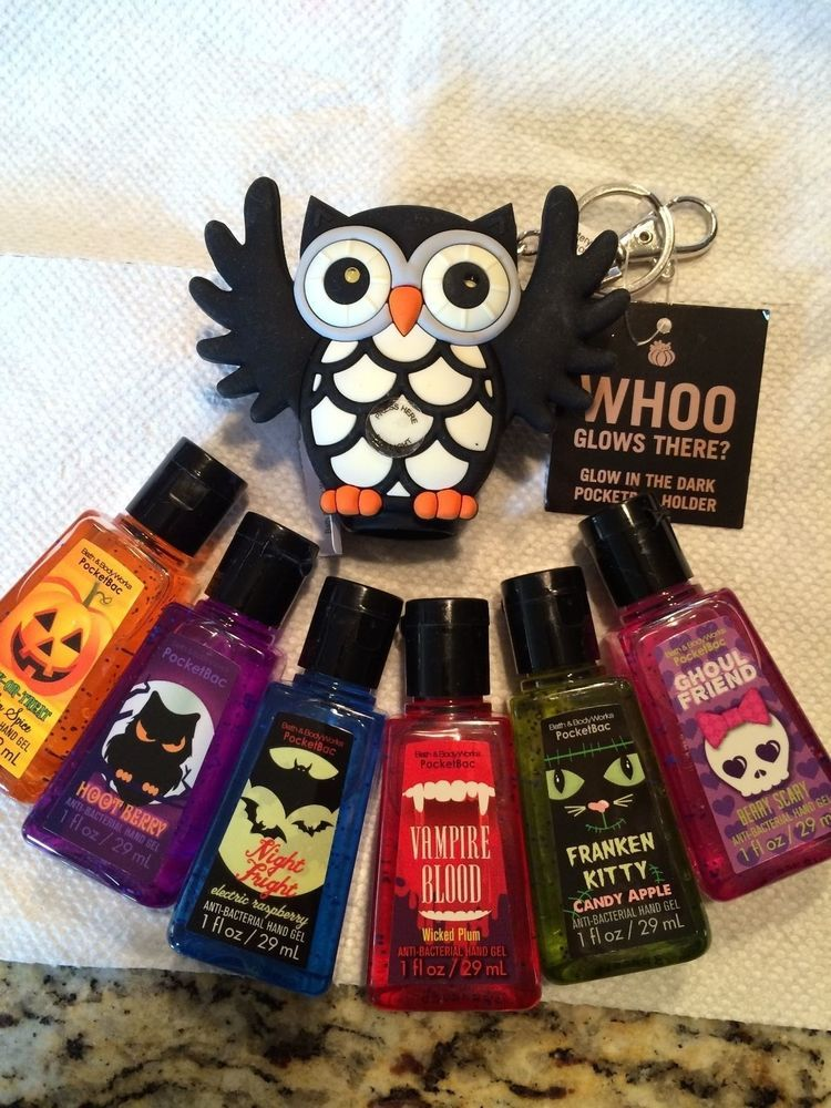 Bath And Body Works Halloween Antibac Hand Sanitizers With Glow In
