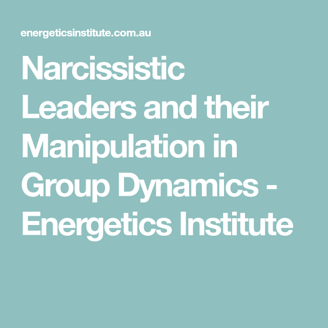 Narcissistic personality disorder in the workplace