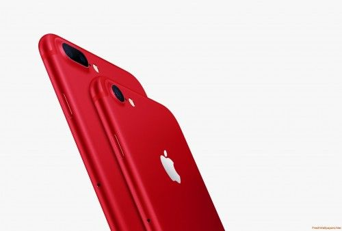 IPhone 7 Red Plus Freshwallpapers Wallpapers Apple Iphone7
