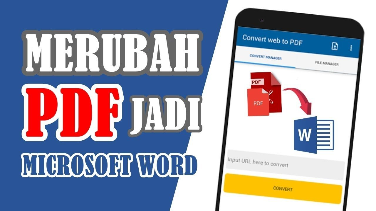 Cara Merubah Pdf Ke Word Di Android Science Android Website