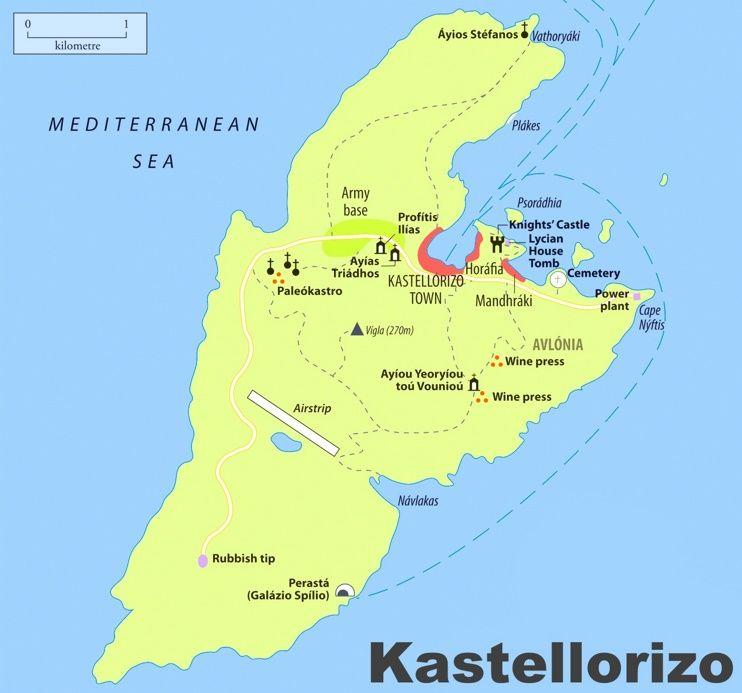 Kastellorizo sightseeing map Maps Pinterest Greece islands