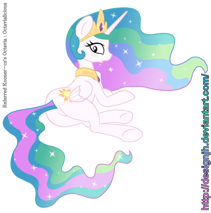 Princess Celestia's Cutie Hip by DesignJH.deviantart.com on @DeviantArt