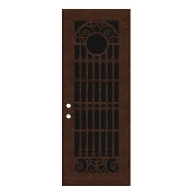 Unique Home Designs 36 In X 96 In Spaniard Copperclad Right Hand Surface Mount Aluminum Security Door With Black Perforated Screen 1s2029em1ccp5a The Home D Unique House Design House Design Security Door