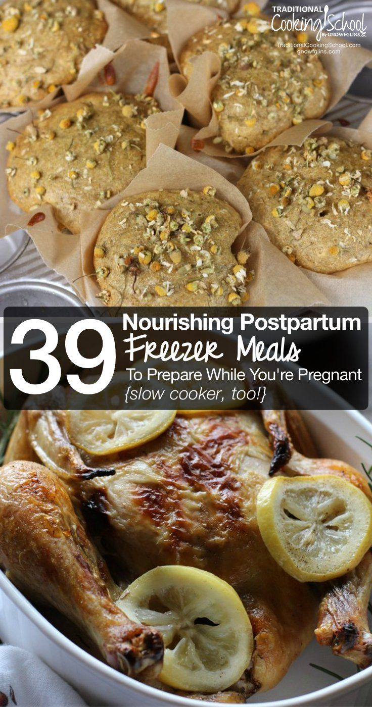39 Nourishing Postpartum Freezer Meals To Prepare While You're Still Pregnant {slow cooker, too!} images