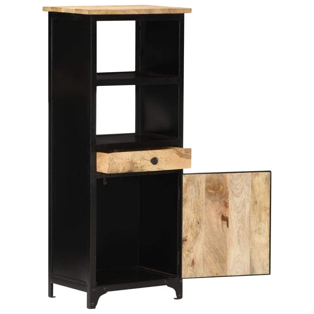 ZNTS Highboard 45x32x110 cm Solid Mango Wood 289105
