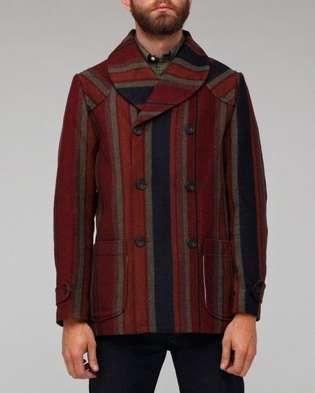 Heritage Research Db Campaign Coat in Multicolor