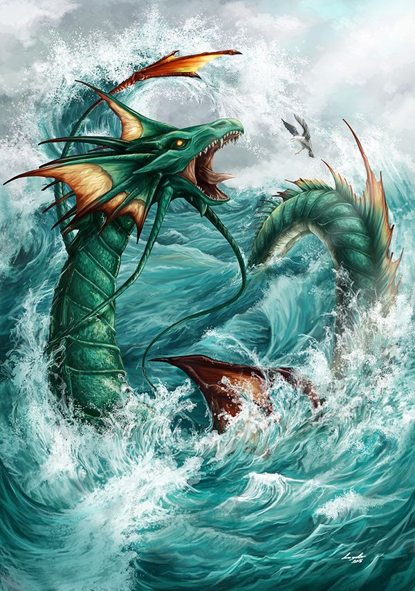 Outcast Odyssey Sea Serpent on Behance | Water Dragon ...