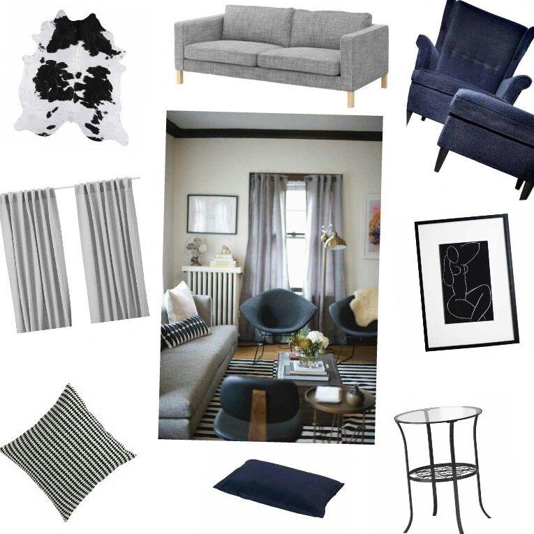 On the cheap..IKEA furnishings for blue/gray livingroom