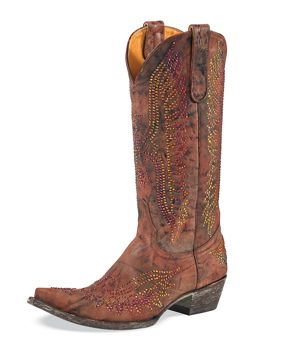 Old Gringo Boots:  Eagle Crystal.  Also available at Vaquera in Asheville.  When I wear mine magic is all around me.