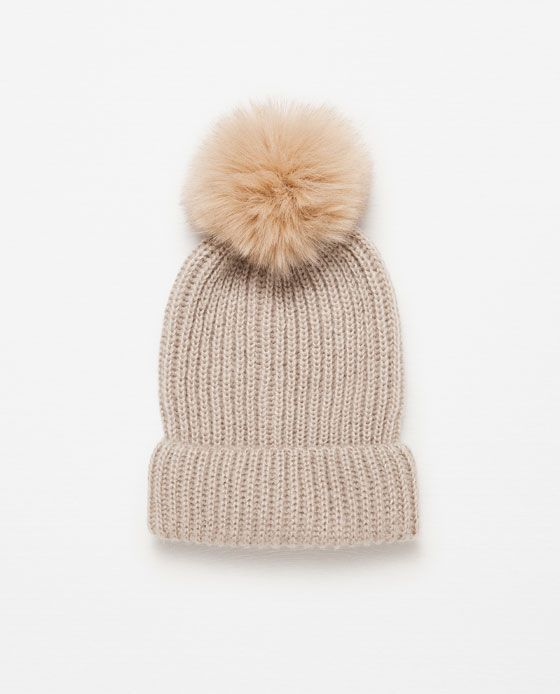 This Zara pom pom hat is playful and practical.