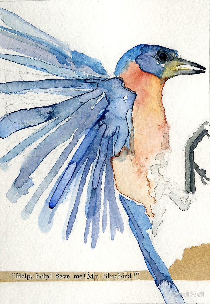 Bluebird of Happiness by Carol Kroll | Arte | Pinterest ...