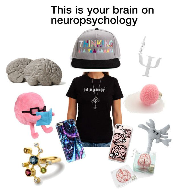 """Neuro Nerd"" by coloradocutie ❤ liked on Polyvore featuring Lyon Béton, Frankie & Stein, Casetify, Alexander Davis and ThinkGeek"